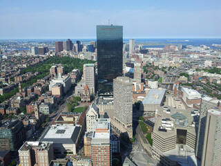 Boston city skyline
