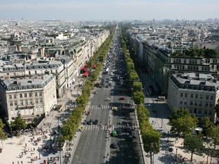 Champs Elysees Paris parade
