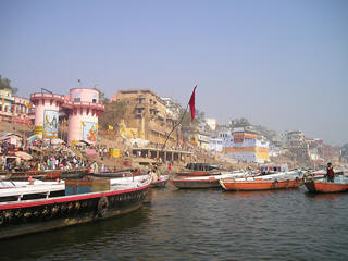 Ganges River holy boats
