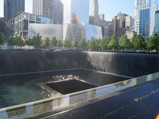 New York 9/11 memorial fountains