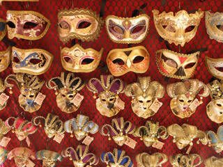 Rose parade carnival masks